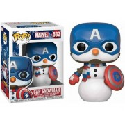 Figura FUNKO POP! Marvel: Holiday - Captain America Snowman