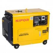 Generator KIPOR KDE 6700 TA, 5 kVA, diesel, supersilent