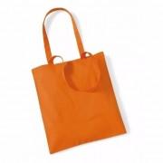 Merkloos Katoenen boodschappentasje oranje 10 liter