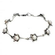 Bransoletka srebrna z perłami L 1557 perła