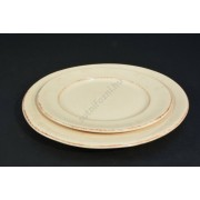 Bézs antkolt tányér szett