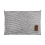 Knit Factory Juul kussen 60x40 lichgrijs/beige