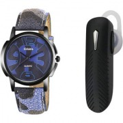 Crazeis Bluetooth Handset and watch Combo compatible for Oppo Vivo Smasung Motorola LG Huawei Gionee ASUS Panasonic Micromax and Many more. Bluetooth Headset with Mic (Black In the Ear)