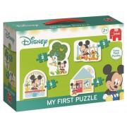 Puzzel Mickey Mouse 4 in 1: 2/3/3/4 stukjes
