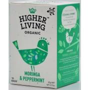 HIGHER LIVING Moringa & Peppermint Tea - 15 Beutel