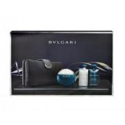 Bvlgari Aqva Pour Homme 100Ml Edt 100Ml + 75Ml Shower Gel + 75Ml After Shave Balm + Cosmetic Bag Per Uomo (Eau De Toilette)