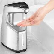 Motion Sensor Auto Liquid Soap Dispensers Touchless for Bathroom Kitchen - Silver