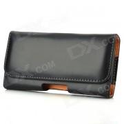 funda protectora de cuero PU con clip para cinturon para Samsung Galaxy S3 i9300 - negro