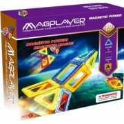 Joc de constructie magnetic MAGPLAYER 20 piese varsta recomandata 3 - 10 ani Multicolor