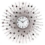 Luxusní skleněné kovové designové obrovské hodiny JVD HJ21 - 74cm