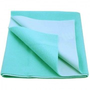 Glassiano Waterproof Baby Bed Protector Dry Sheet (70x50 CM) Small Size Sea Green