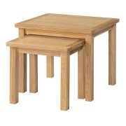 Auckland Oak Nest Of Tables Fully Assembled