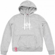 Alpha Industries New Basic Felpa con cappuccio da donna Grigio M