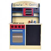 Wooden Kids Kitchen Toy Set Toddler Wooden Playset Cooking Pretend Play + eBook