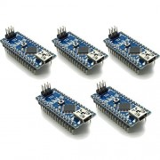 waves 5 pieces Arduino Nano V3.0 compatible item Mini USB CH340 domestic delivery pin header installed