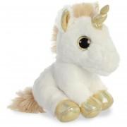 Peluche de unicornio dorado