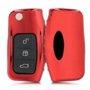 kwmobile Silikon etui dla kluczyk samochodowy dla Ford Ford - czerwony