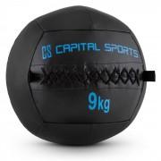 Wallba 9 Bola medicinal 9 kg em couro sintético preto