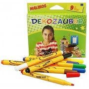 Toys Bhoomi Malinos 9 Piece Artistic Magic Color Pen to Decorate & Paint on Paper, Metal, Glass, Plastic, Foil, Ceramics, Easter Eggs, Stones and More 300034 - MADE IN GERMANY