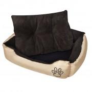 vidaXL Топло кучешко легло с подплатена възглавница, размер S