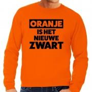Bellatio Decorations Oranje Koningsdag Oranje is het nieuwe zwart sweater heren