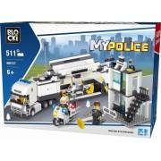 Joc constructie, My Police, Statie mobila de politie, 511 piese Blocki