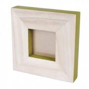 Rama foto lemn cu finisaj verde Trimar Stencil 20.5 x 20.5 cm