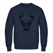Deer Head Black - Männer Pullover
