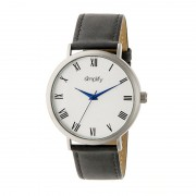 Simplify The 2900 Leather-Band Watch - Silver/Charcoal SIM2902