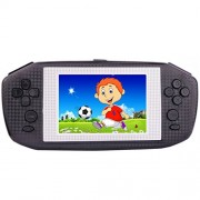 "Portable Handheld Game Console Gaming Player System Birthday Gift for Kids Built in 416 Classic Retro Games with 3.5"" LCD Big Screen Arcade (Black)"