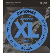 D'Addario ECG25 Chromes .012-052 Cuerdas guitarra eléctr.