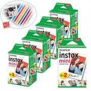 Fujifilm Instax Mini Instant Film Wit Voor Instax Mini 9 8 8 + 7c 7 s 70 90 25 50 s Camera Smartphone Printer SP-2 1 Polariod 300 - 40 vellen