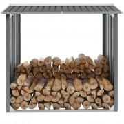 Sonata Навес за дърва, поцинкована стомана, 172x91x154 см, сив