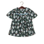 【69%OFF】PILA 花柄 タッセルライン 半袖ドレス ブルー 140 ベビー用品 > 衣服~~ベビー服