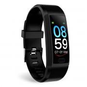 LEMONDA SMART SNY18 1.14-inch Color Screen Waterproof Single Point Touch Fitness Tracker Bracelet Smart Watch Band - Black