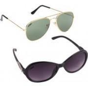 Criba Cat-eye, Aviator Sunglasses(Violet, Grey)