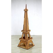 Wooden 3D Puzzle Eiffel Tower - Home Decor, Construction Toy, Modeling Kit, School Project - Easy to Assemble