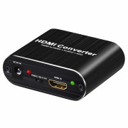 Adaptor Convertor ARC HDMI la HDMI 4K Audio Splitter cu Optical Toslink SPDIF si 3.5mm Audio Stereo, negru