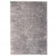 vidaXL Рошав килим тип шаги, 160x230 см, сив