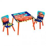 Disney Cars houten tafel met stoeltjes