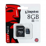 Card micro SD Kingston, capacitate 8 GB, adaptor inclus