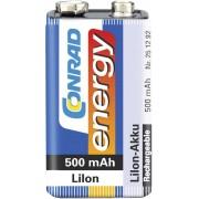 Acumulator Li-Ion 9 V, 500 mAh, Conrad Energy