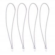 Seilflechter Sailbinder avec crochets en nylon, 4 dans le sac, 55cm, blanc SF_199355