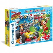 Clementoni puzzle supercolor mickey and the roadster racers 104 maxi 23709