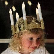 Five-light St Lucy's crown w. LEDs