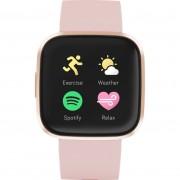 Ceas Smartwatch Fitbit Versa 2, NFC, HR, Silicon, Copper Rose Aluminum, Curea Petal