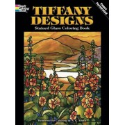 Tiffany Designs Stained Glass Coloring Book, Paperback