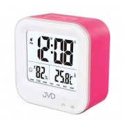 Budzik akumulatorowy JVD SB9909.2 z termometrem i higrometrem