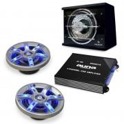 Electronic-Star hi-fi комплект за кола BeatPilot FX-211, високоговорители, усилвател (PL-2.1-1-6.5)