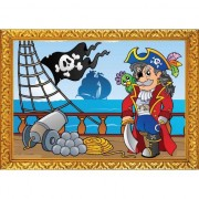 Geen Piraten wandversiering poster boot